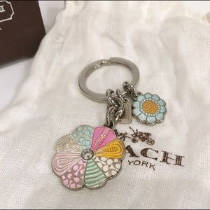Coach Floral Key Chain